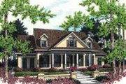 Mediterranean Style House Plan - 3 Beds 3 Baths 2684 Sq/Ft Plan #45-241 Exterior - Front Elevation