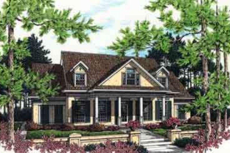 Dream House Plan - Mediterranean Exterior - Front Elevation Plan #45-241