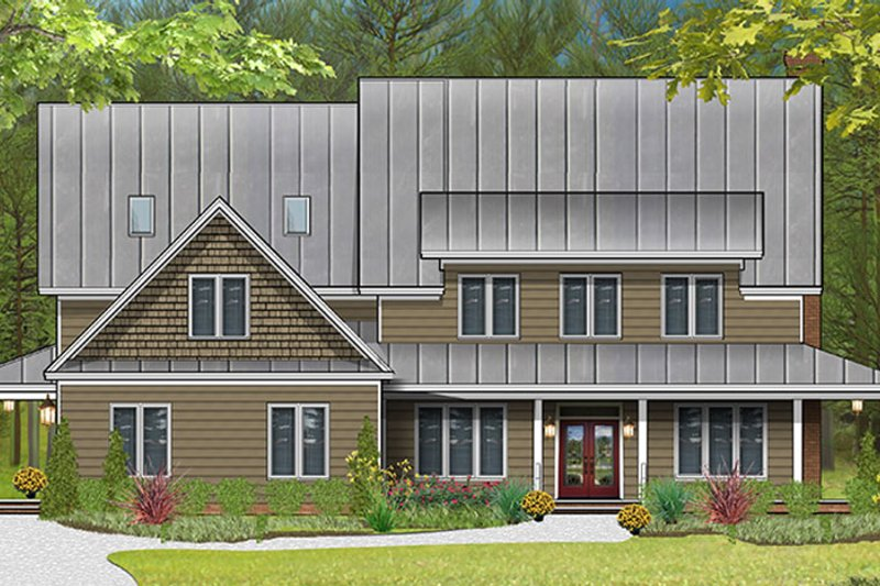 Country Exterior - Front Elevation Plan #977-1