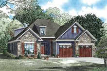 House Plan Design - Country Exterior - Front Elevation Plan #17-3356