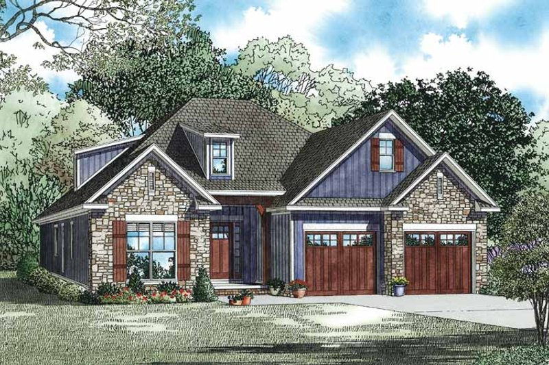 Country Exterior - Front Elevation Plan #17-3356 - Houseplans.com