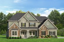 Architectural House Design - Colonial Exterior - Front Elevation Plan #1010-86