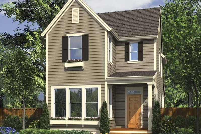 Home Plan - Country Exterior - Front Elevation Plan #48-867