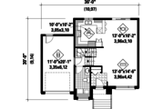 Contemporary Style House Plan - 3 Beds 1 Baths 1546 Sq/Ft Plan #25-4281 Floor Plan - Main Floor Plan