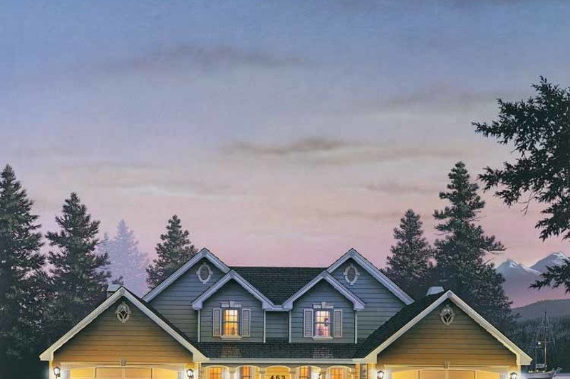 Country Exterior - Front Elevation Plan #57-633 - Houseplans.com