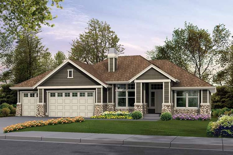 Craftsman Exterior - Front Elevation Plan #132-340