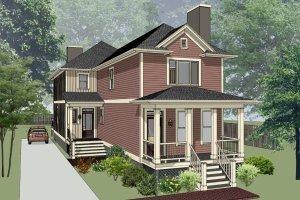 Cottage Exterior - Front Elevation Plan #79-251