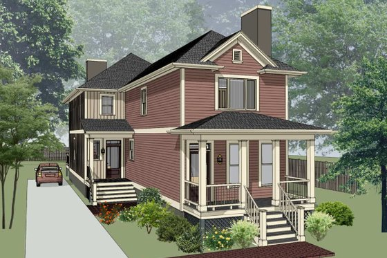 Cottage Exterior - Front Elevation Plan #79-251