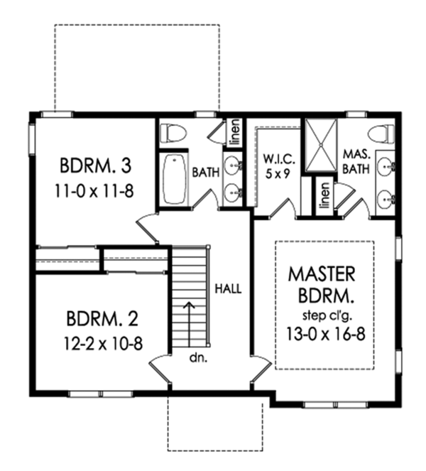 House Plan Design - Traditional Floor Plan - Upper Floor Plan #1010-201