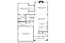 Craftsman Floor Plan - Main Floor Plan Plan #453-621