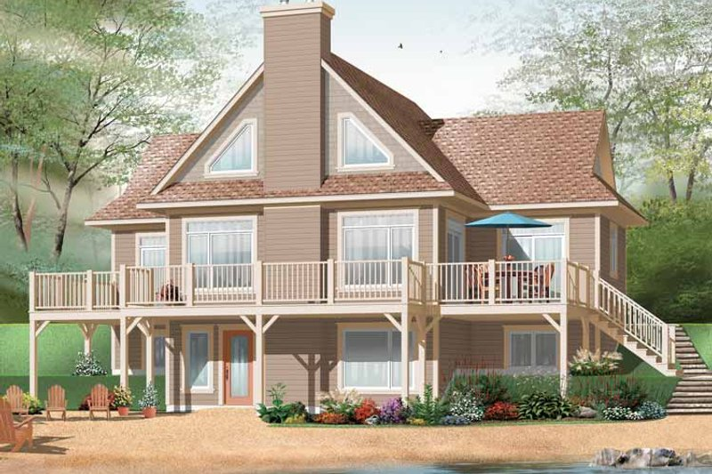 Country Exterior - Front Elevation Plan #23-2424 - Houseplans.com