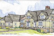 Craftsman Style House Plan - 4 Beds 3.5 Baths 3878 Sq/Ft Plan #928-184 Exterior - Front Elevation