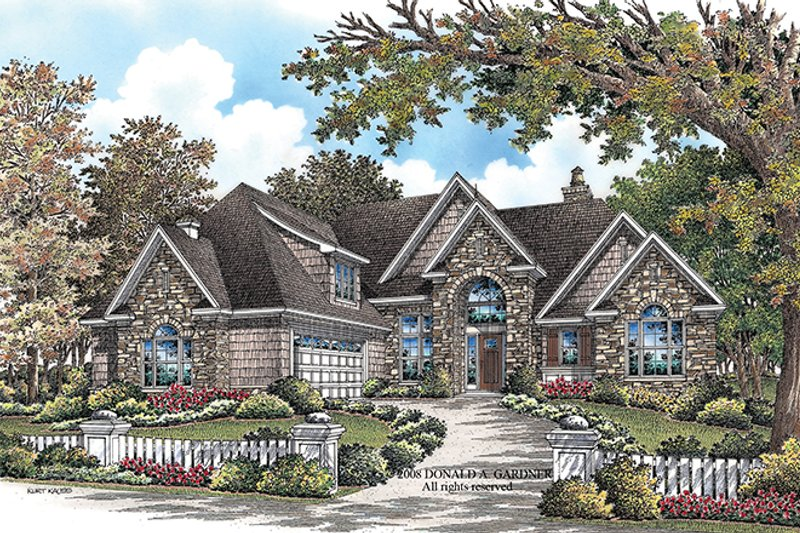 European Exterior - Front Elevation Plan #929-921 - Houseplans.com
