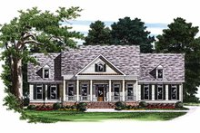 Classical Exterior - Front Elevation Plan #927-252