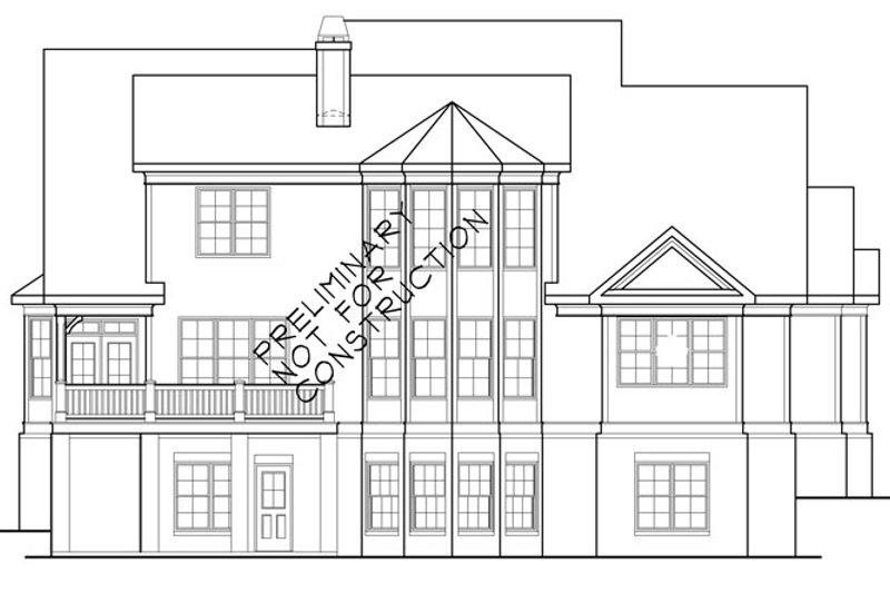Country Exterior - Rear Elevation Plan #927-414 - Houseplans.com