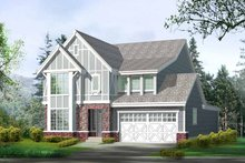 Architectural House Design - Country Exterior - Front Elevation Plan #132-298