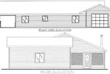 Dream House Plan - Traditional Exterior - Rear Elevation Plan #117-454