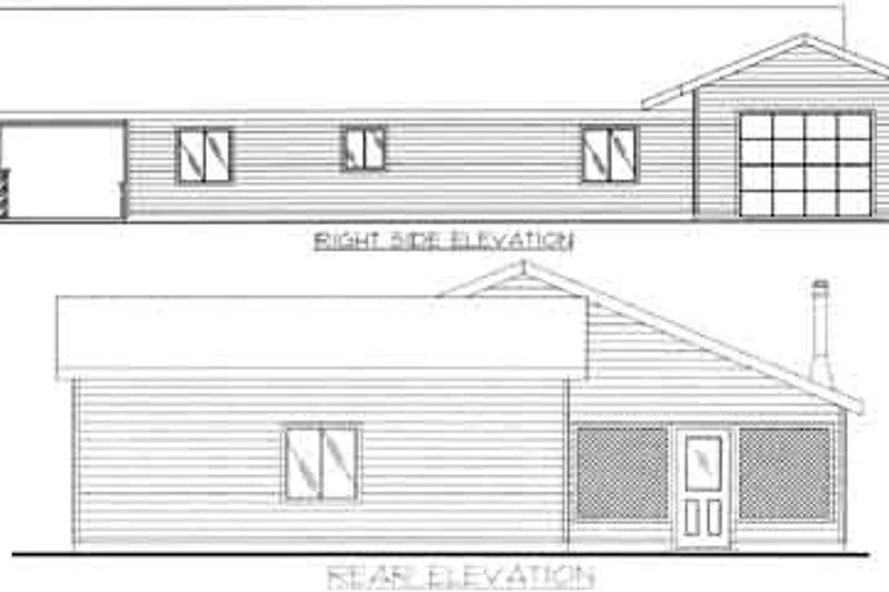 Traditional Exterior - Rear Elevation Plan #117-454 - Houseplans.com