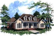 Traditional Style House Plan - 4 Beds 2.5 Baths 2450 Sq/Ft Plan #37-208 Exterior - Front Elevation
