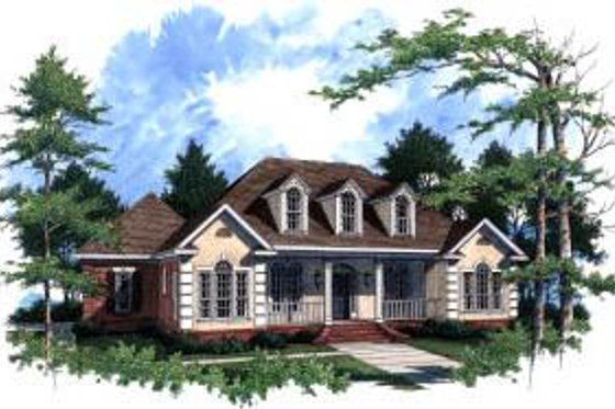 Traditional Exterior - Front Elevation Plan #37-208