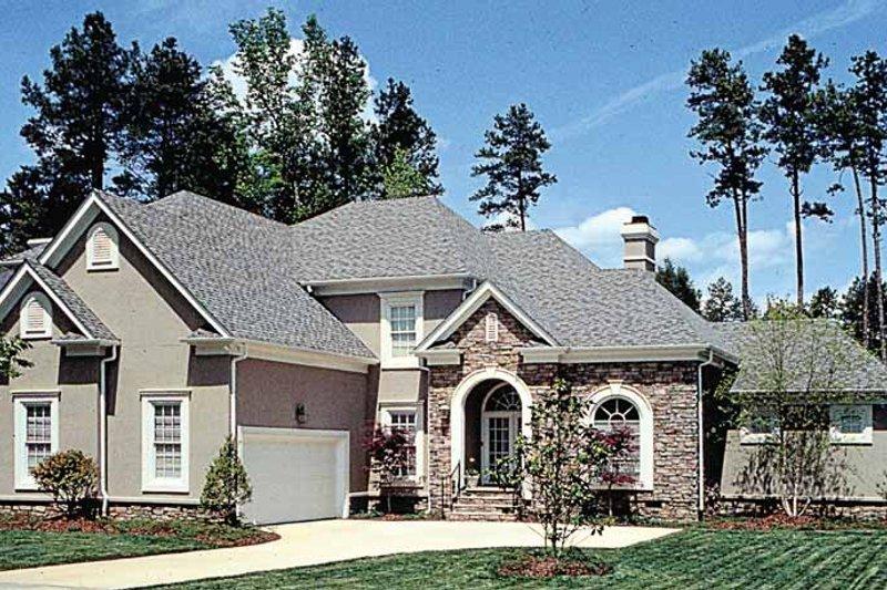 European Exterior - Front Elevation Plan #453-391 - Houseplans.com