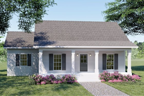Cottage Exterior - Front Elevation Plan #44-175