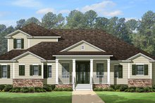 Architectural House Design - Country Exterior - Front Elevation Plan #1058-114