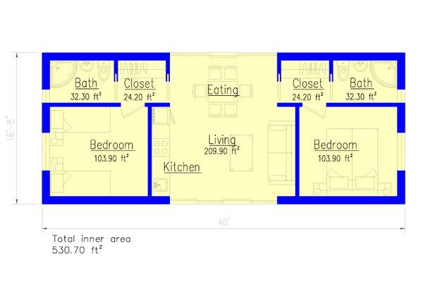 Modern Floor Plan - Main Floor Plan Plan #549-29