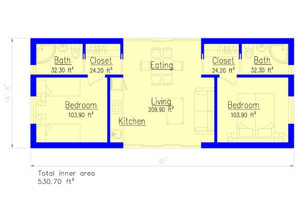 Modern Floor Plan - Main Floor Plan #549-29