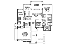 European Floor Plan - Main Floor Plan Plan #20-2251