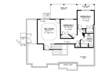 Ranch Floor Plan - Lower Floor Plan Plan #437-77