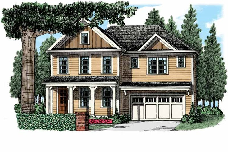 Country Exterior - Front Elevation Plan #927-949