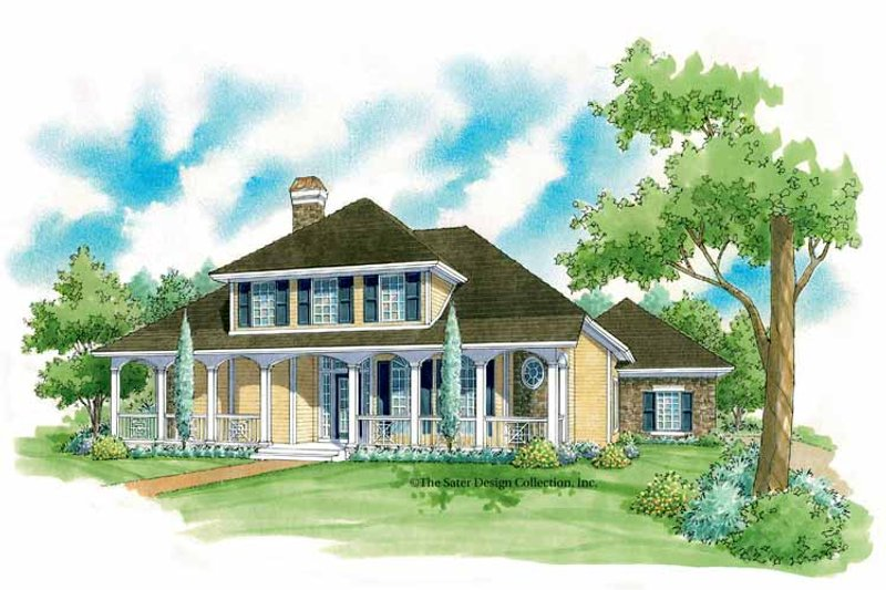 House Plan Design - Country Exterior - Front Elevation Plan #930-223