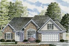 Architectural House Design - Traditional Exterior - Front Elevation Plan #316-240