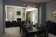 Contemporary Style House Plan - 3 Beds 4.5 Baths 5431 Sq/Ft Plan #928-77 Interior - Dining Room
