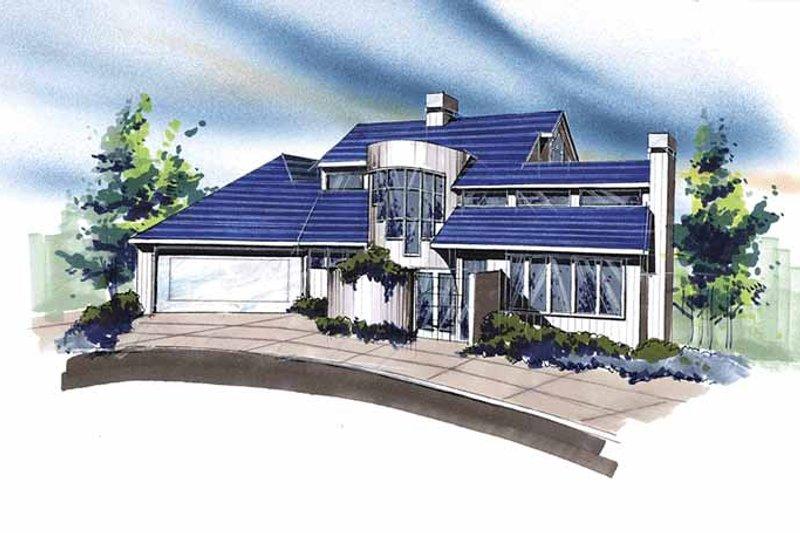 Contemporary Exterior - Front Elevation Plan #509-310 - Houseplans.com