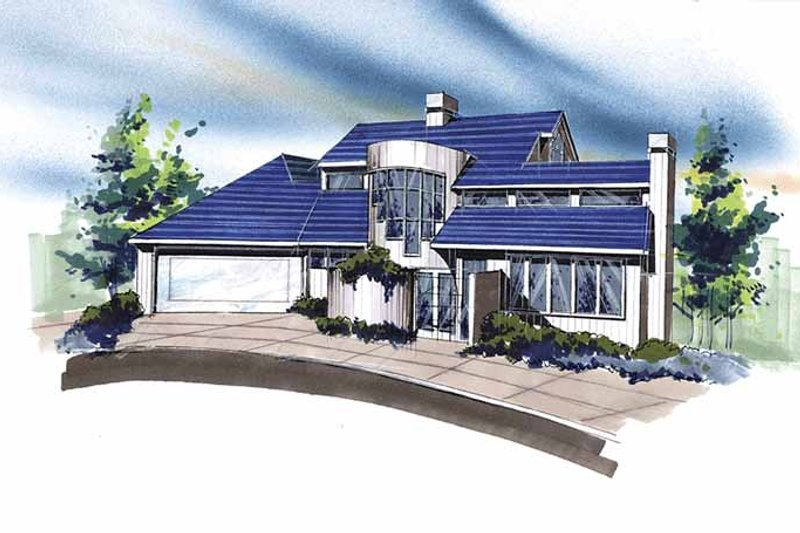 Contemporary Exterior - Front Elevation Plan #509-310