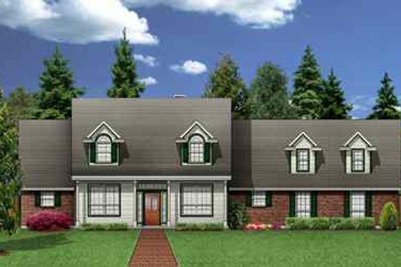 Colonial Exterior - Front Elevation Plan #84-142