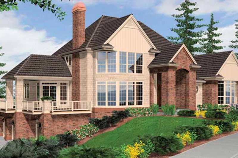 Traditional Exterior - Front Elevation Plan #48-893