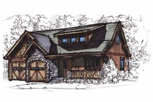 Dream House Plan - Craftsman Exterior - Front Elevation Plan #17-2813