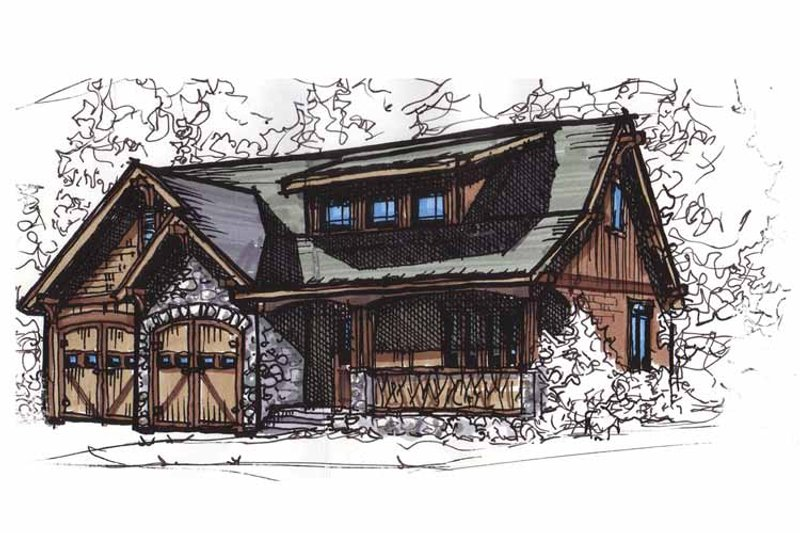 Dream House Plan - Craftsman Exterior - Front Elevation Plan #17-2813