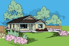 Craftsman Exterior - Front Elevation Plan #60-720