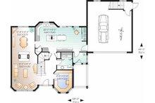 European Floor Plan - Main Floor Plan Plan #23-2450