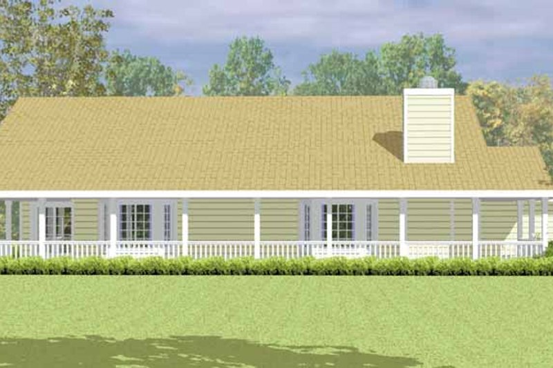 Country Exterior - Other Elevation Plan #72-1079 - Houseplans.com