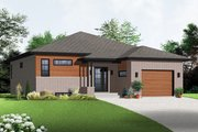 Contemporary Style House Plan - 2 Beds 1 Baths 1283 Sq/Ft Plan #23-2575 Exterior - Front Elevation