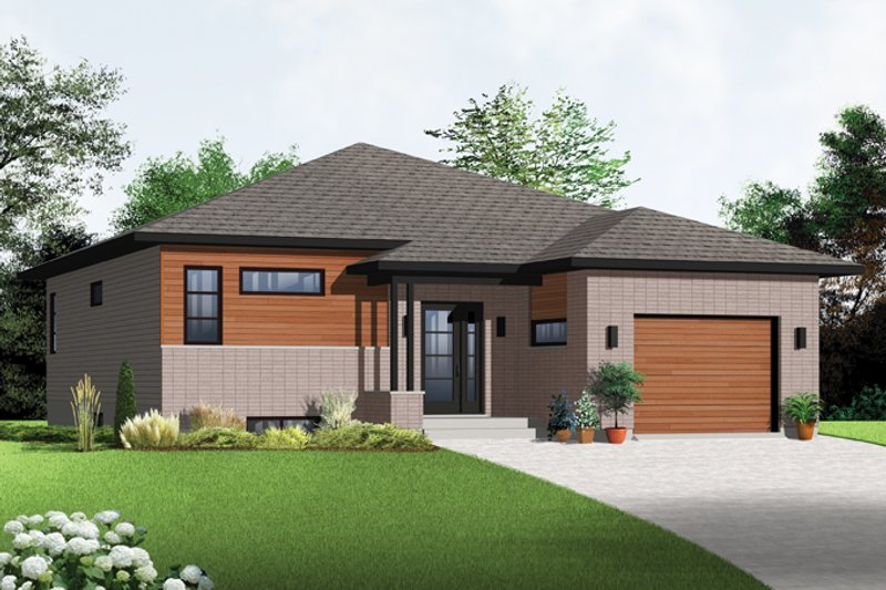 Home Plan - Contemporary Exterior - Front Elevation Plan #23-2575