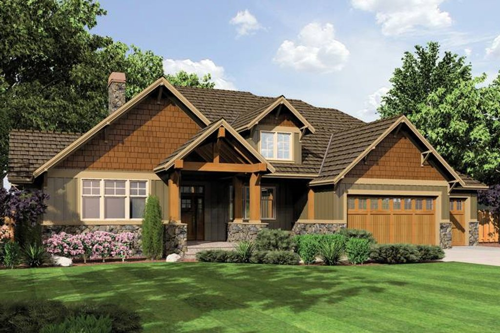 Craftsman style house plan 3 beds 2 5 baths 2735 sq ft for Weinmaster house plans