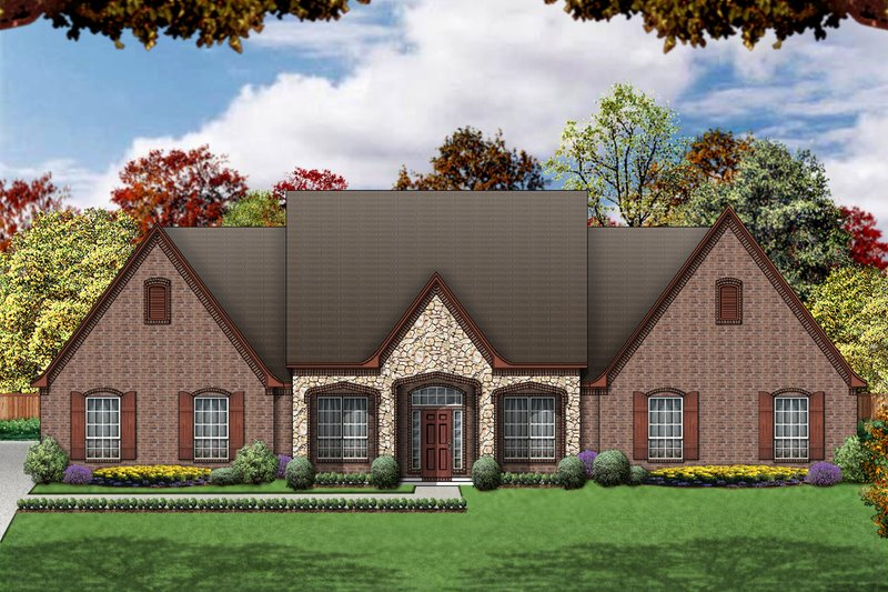 Home Plan - European Exterior - Front Elevation Plan #84-398