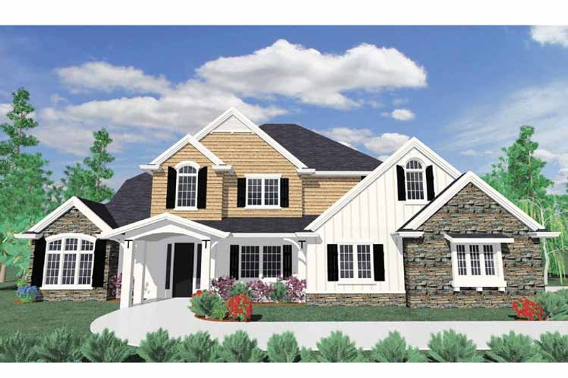 Traditional Exterior - Front Elevation Plan #509-375 - Houseplans.com