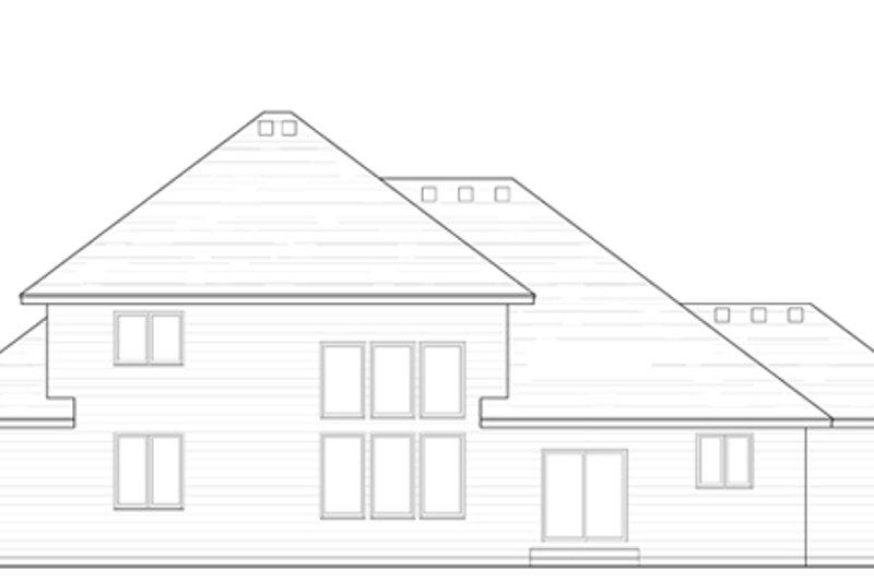 Craftsman Exterior - Rear Elevation Plan #51-386 - Houseplans.com